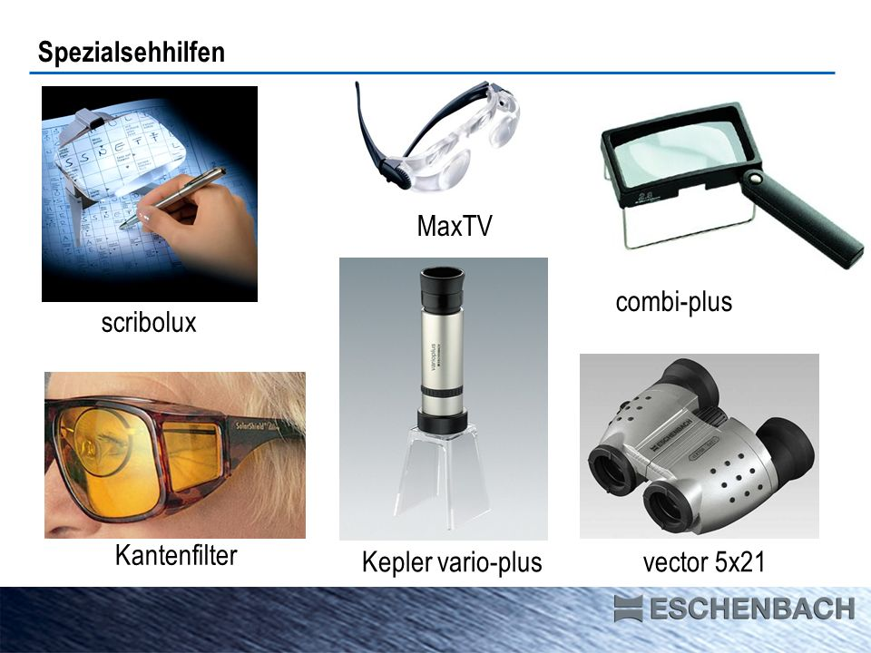 Spezialsehhilfen MaxTV combi-plus scribolux Kantenfilter Kepler vario-plus vector 5x21