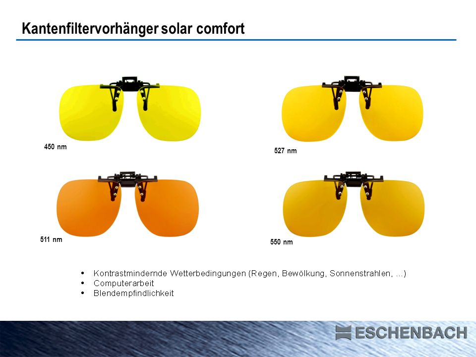 Kantenfiltervorhänger solar comfort