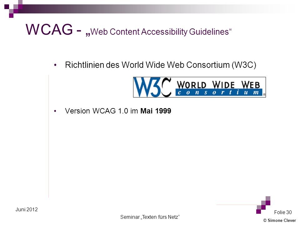 "WCAG - ""Web Content Accessibility Guidelines"