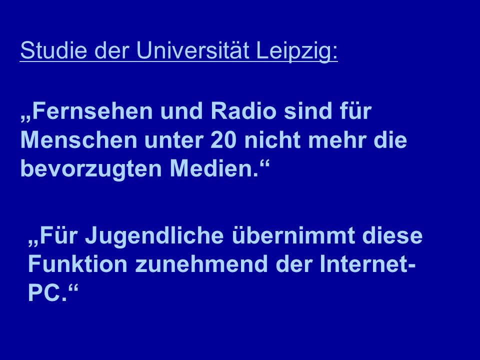 Studie der Universität Leipzig:
