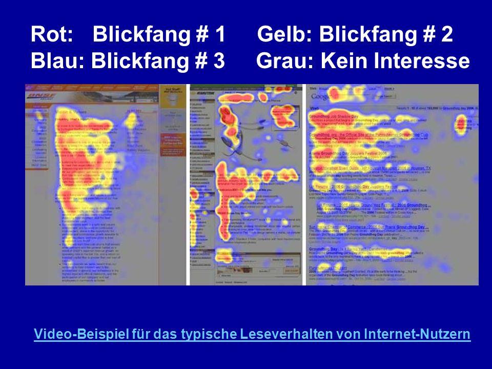 Rot: Blickfang # 1 Gelb: Blickfang # 2