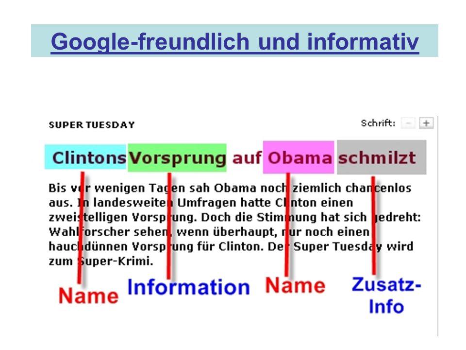 Google-freundlich und informativ