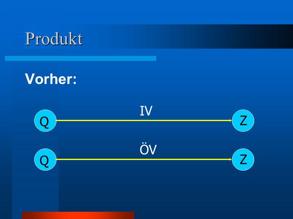 Produkt Vorher: IV Z Q ÖV Z Q