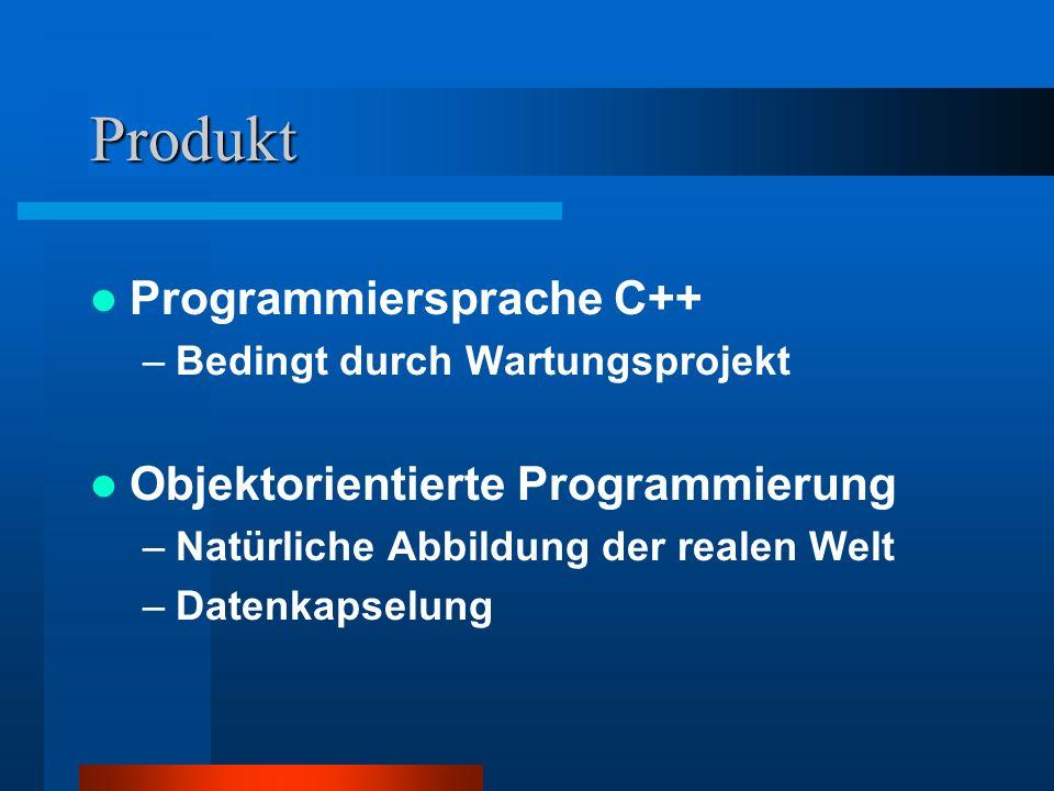 Produkt Programmiersprache C++ Objektorientierte Programmierung