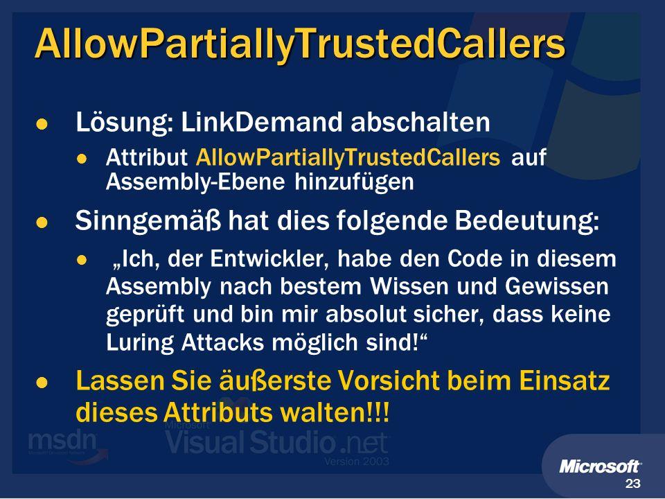 AllowPartiallyTrustedCallers