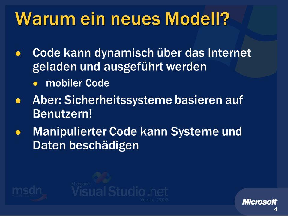 Warum ein neues Modell Code kann dynamisch über das Internet geladen und ausgeführt werden. mobiler Code.