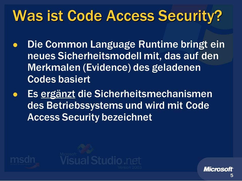 Was ist Code Access Security