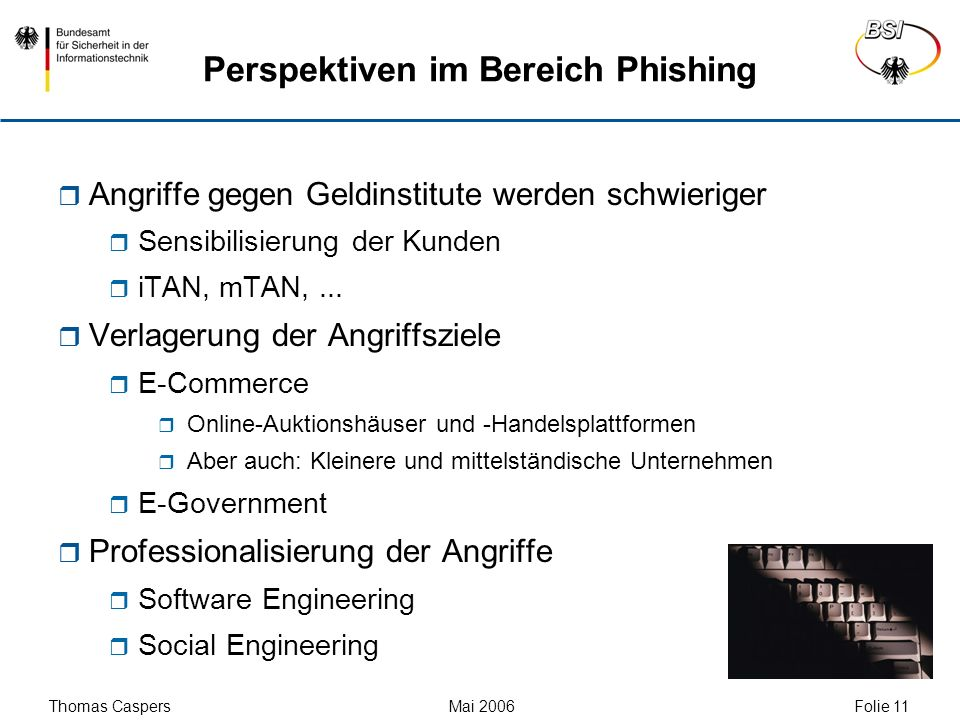 Perspektiven im Bereich Phishing