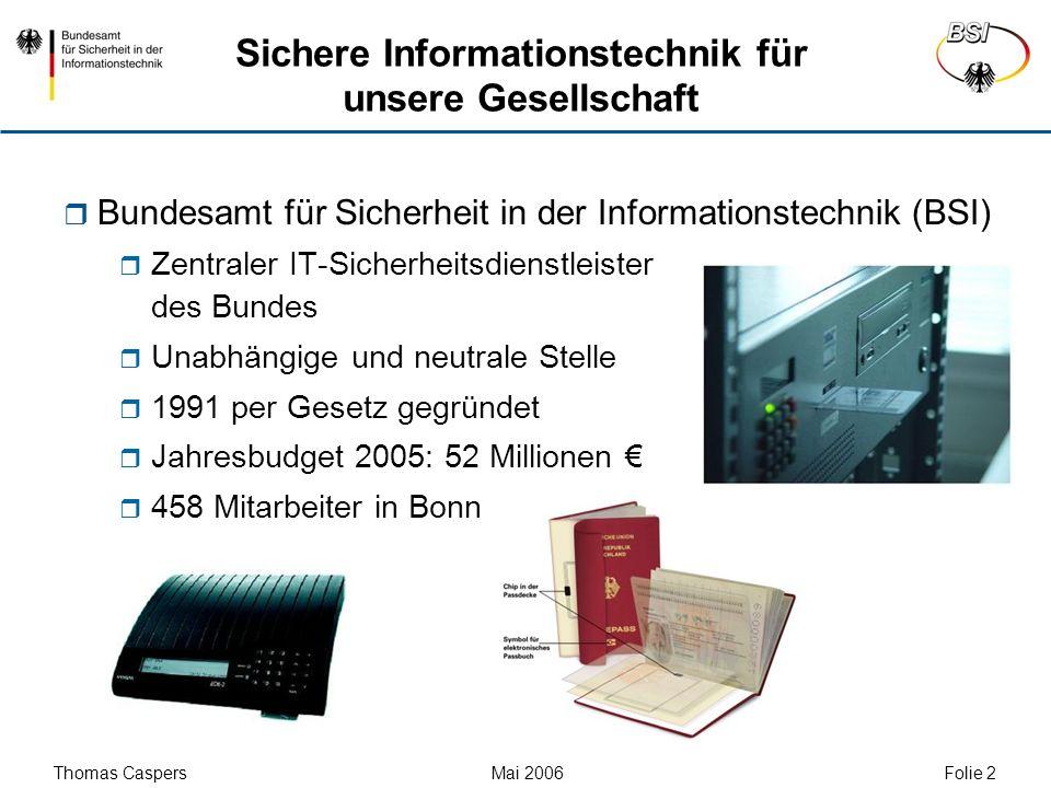 Sichere Informationstechnik für unsere Gesellschaft