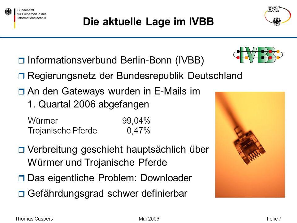 Die aktuelle Lage im IVBB