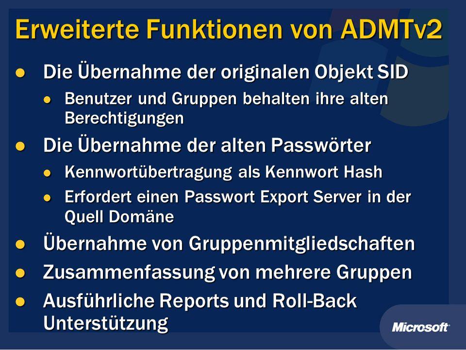 Erweiterte Funktionen von ADMTv2