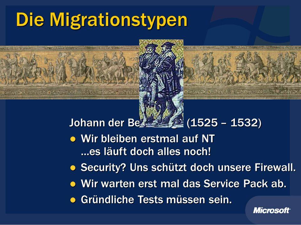 Die Migrationstypen Johann der Beständige (1525 – 1532)