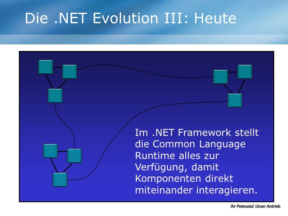 Die .NET Evolution III: Heute