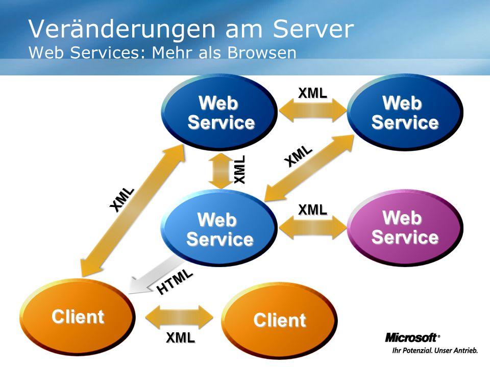 Veränderungen am Server Web Services: Mehr als Browsen