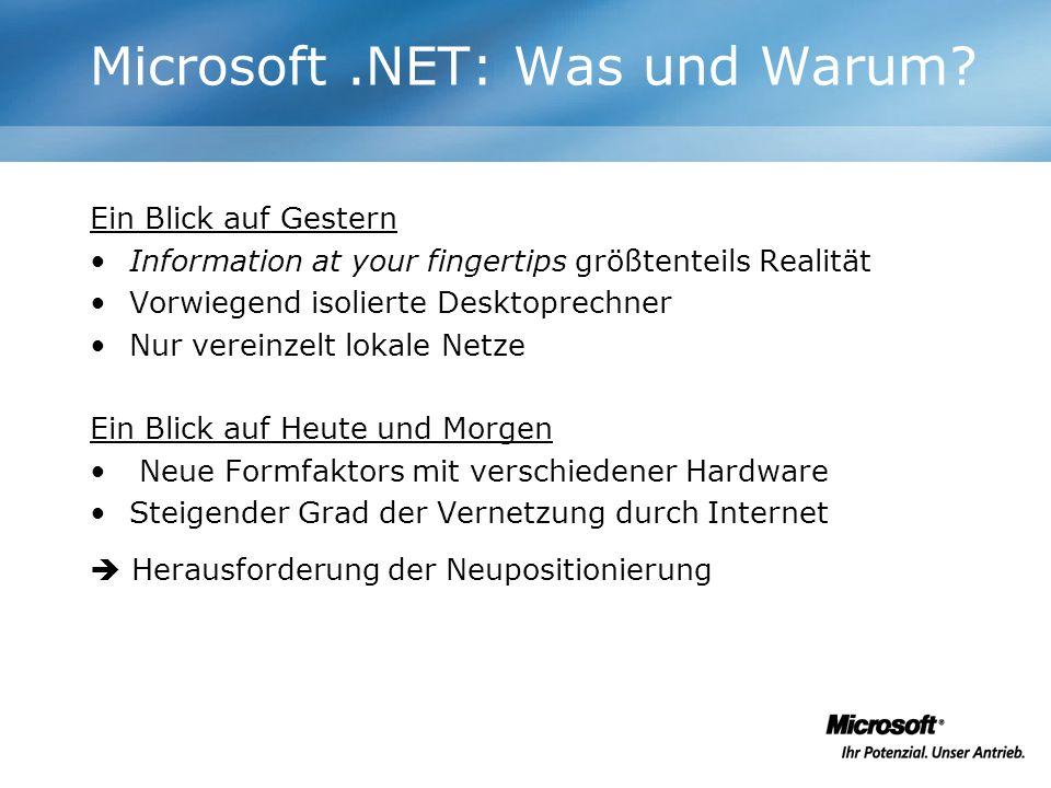 Microsoft .NET: Was und Warum