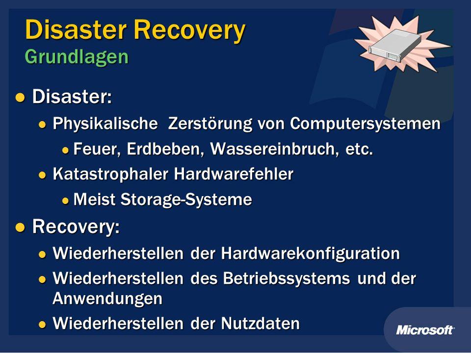 Disaster Recovery Grundlagen