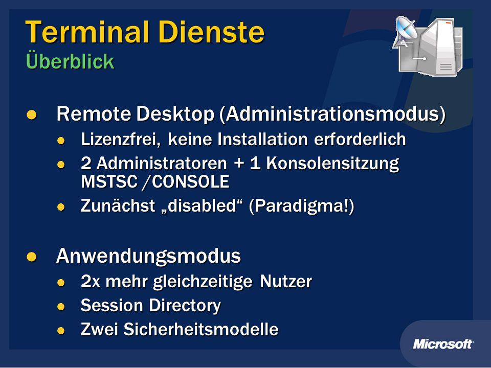 Terminal Dienste Überblick