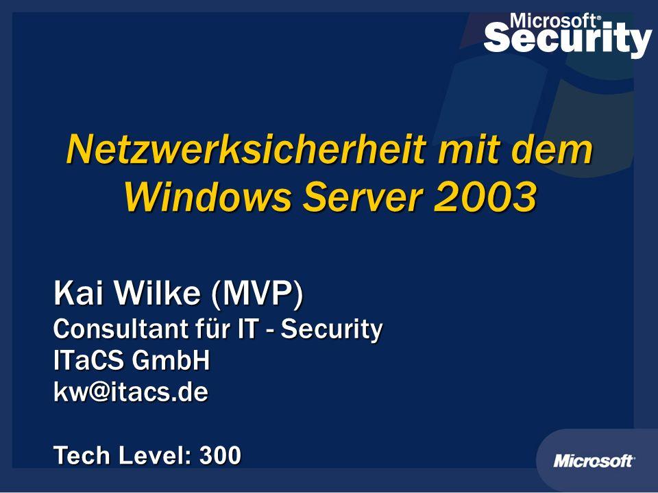 Netzwerksicherheit mit dem Windows Server 2003