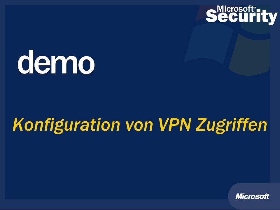 Konfiguration von VPN Zugriffen