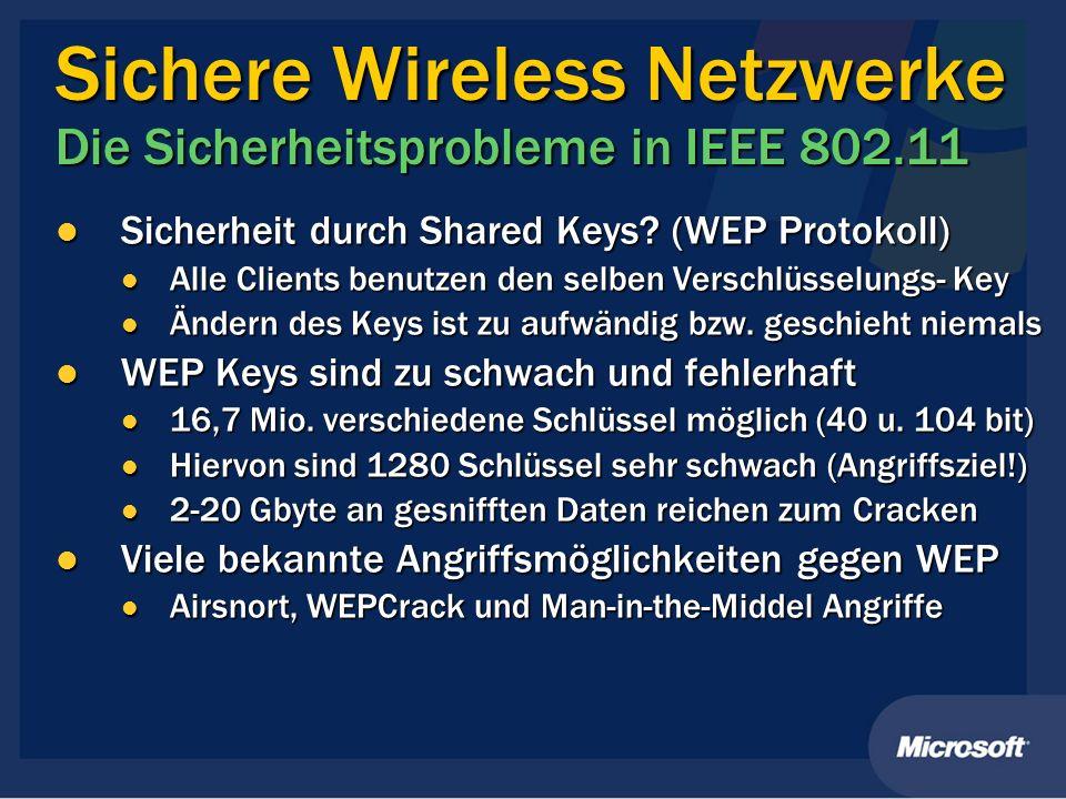 Sichere Wireless Netzwerke Die Sicherheitsprobleme in IEEE 802.11