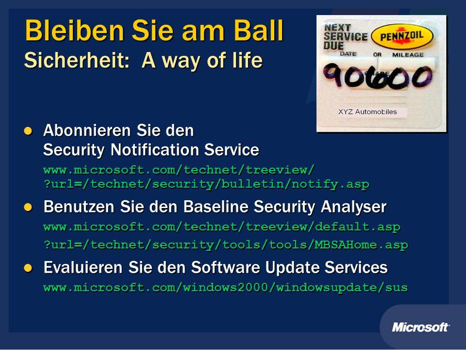 Bleiben Sie am Ball Sicherheit: A way of life