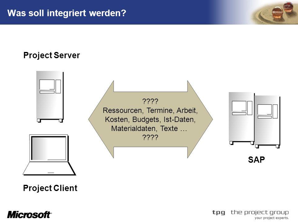 Was soll integriert werden