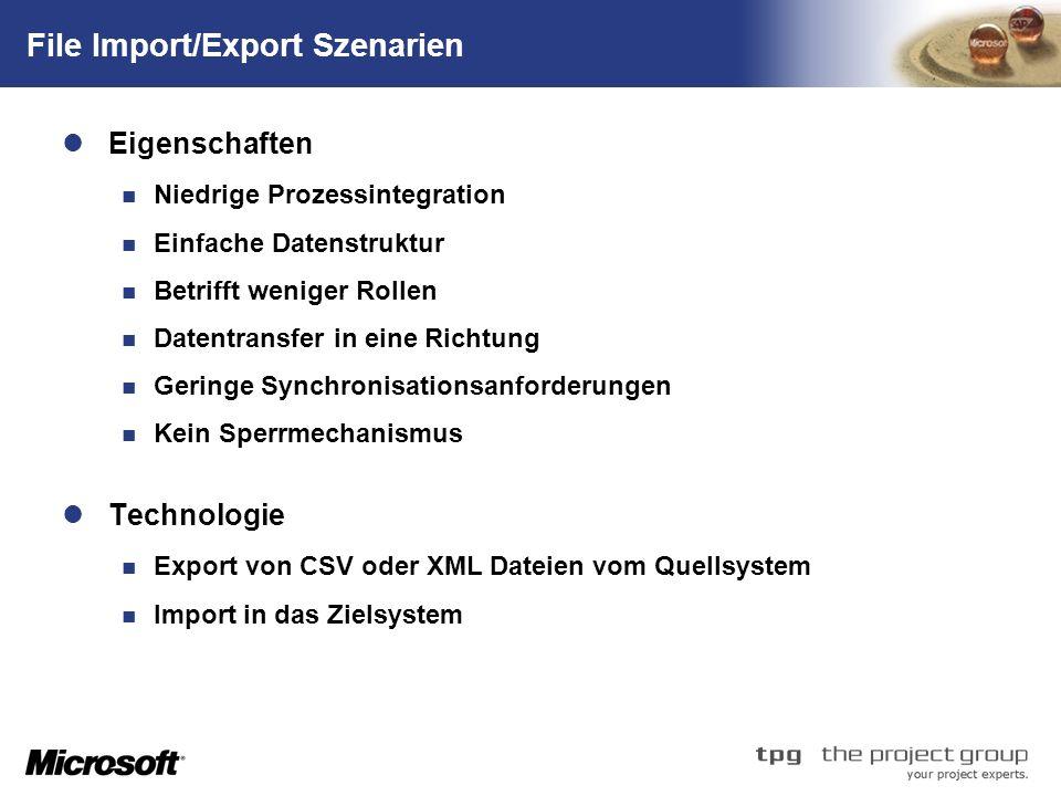 File Import/Export Szenarien