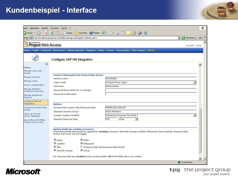 Kundenbeispiel - Interface