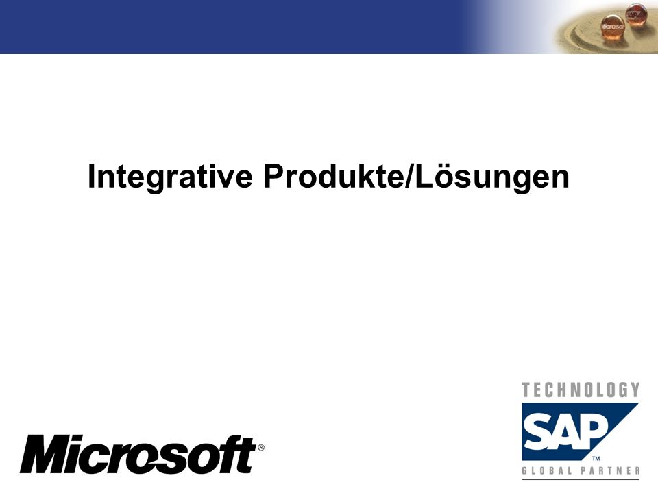 Integrative Produkte/Lösungen