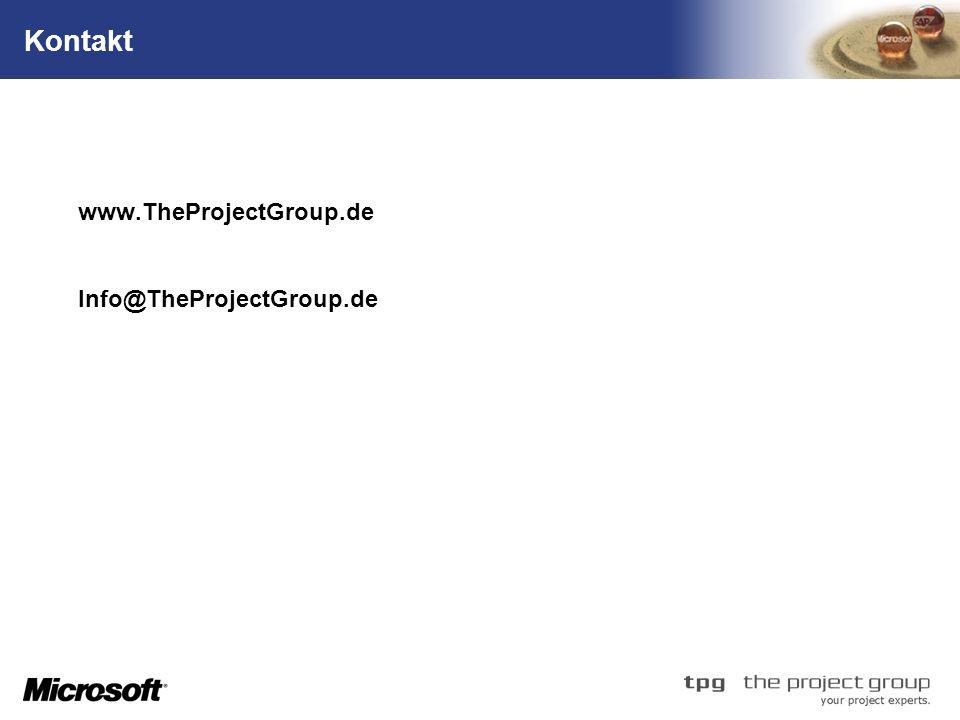 Kontakt Questions & Answers www.TheProjectGroup.de