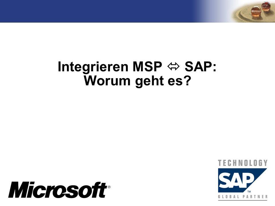 Integrieren MSP  SAP: Worum geht es