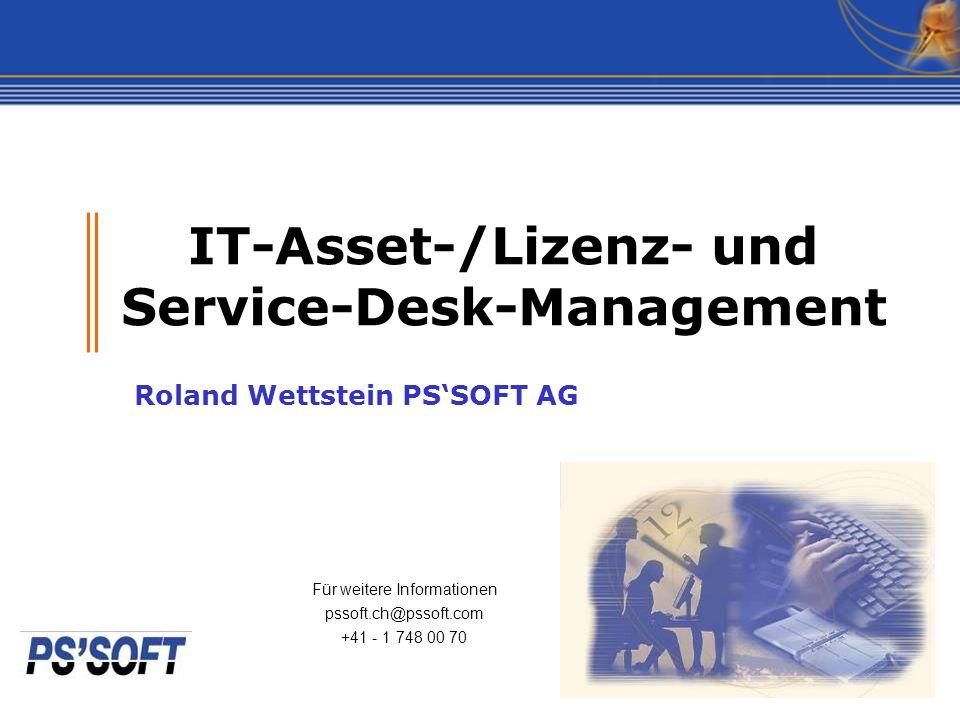 IT-Asset-/Lizenz- und Service-Desk-Management