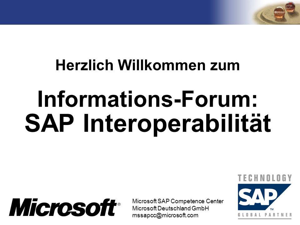 Herzlich Willkommen zum Informations-Forum: SAP Interoperabilität