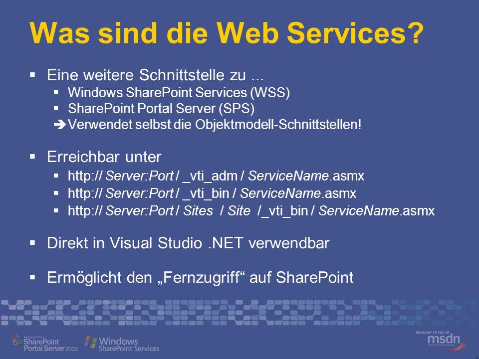 Was sind die Web Services