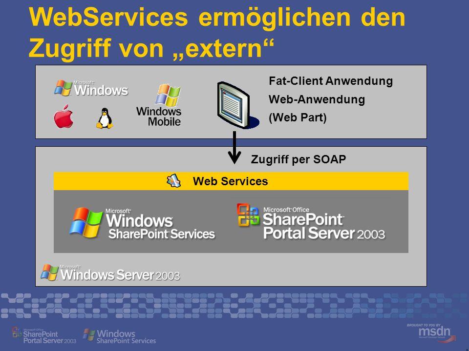 """WebServices ermöglichen den Zugriff von """"extern"""