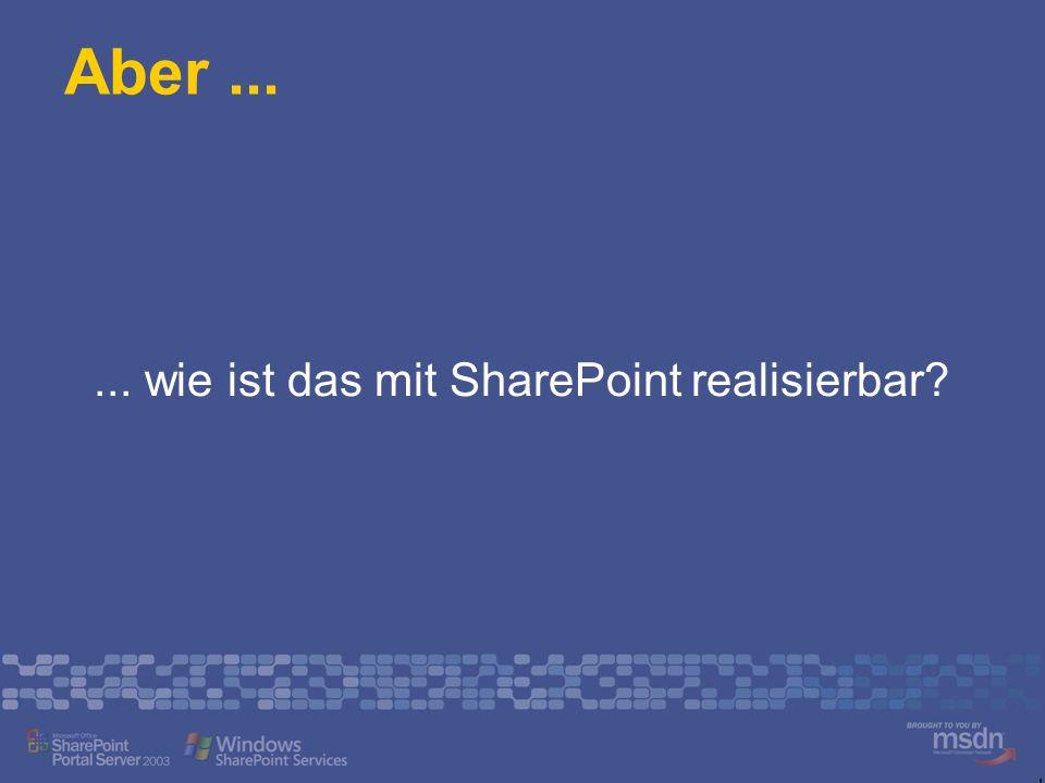 ... wie ist das mit SharePoint realisierbar