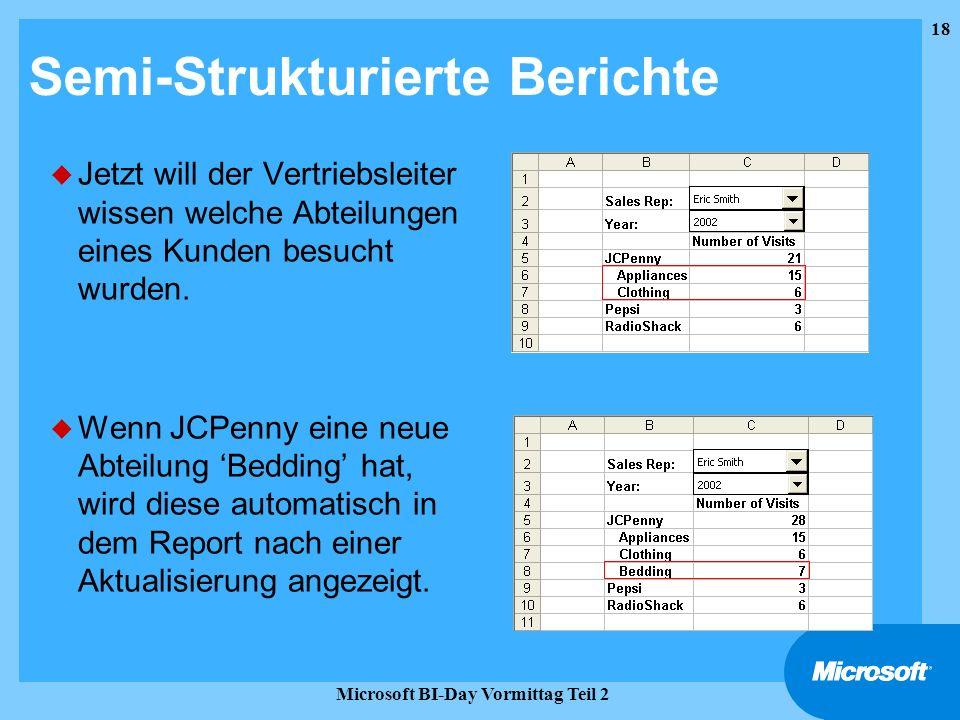 Semi-Strukturierte Berichte