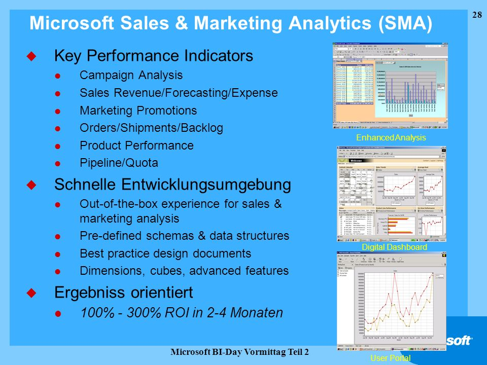 Microsoft Sales & Marketing Analytics (SMA)