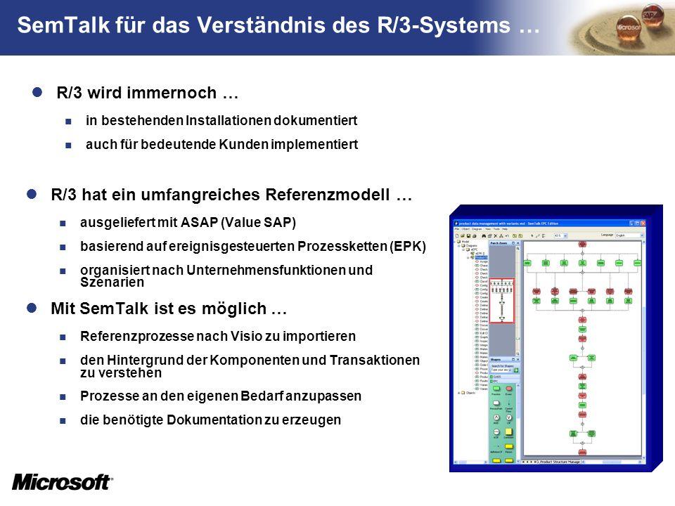 SemTalk für das Verständnis des R/3-Systems …