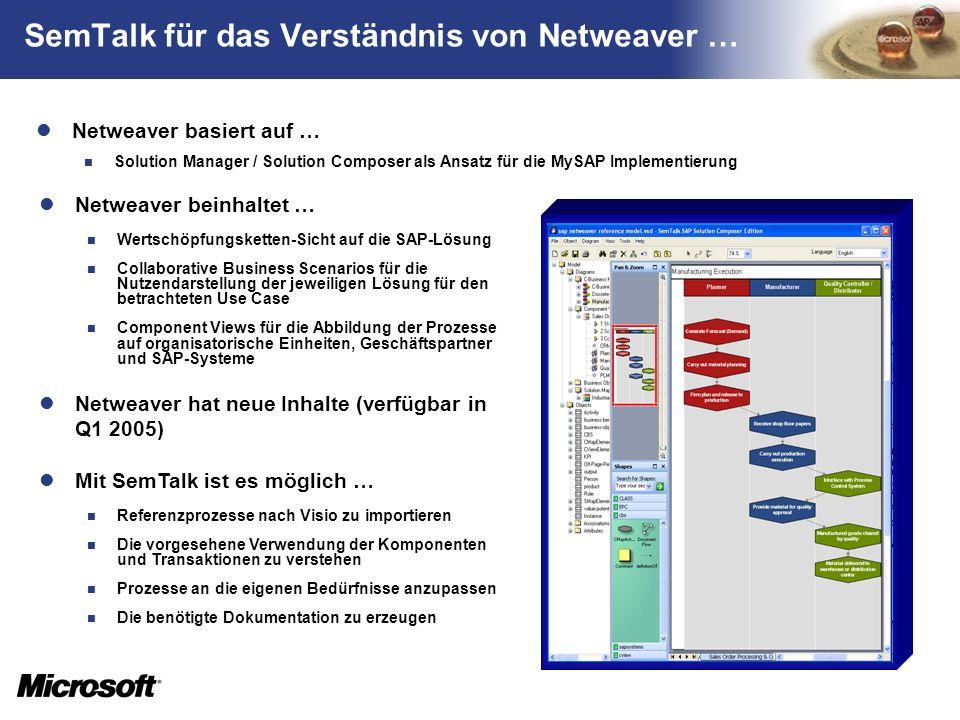SemTalk für das Verständnis von Netweaver …