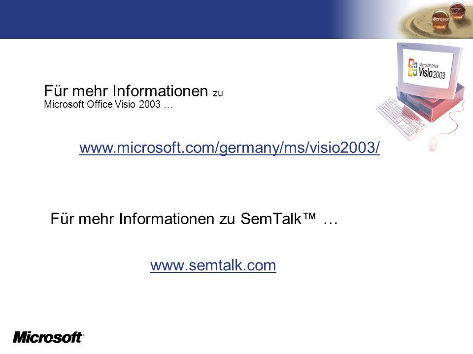 Für mehr Informationen zu SemTalk™ …
