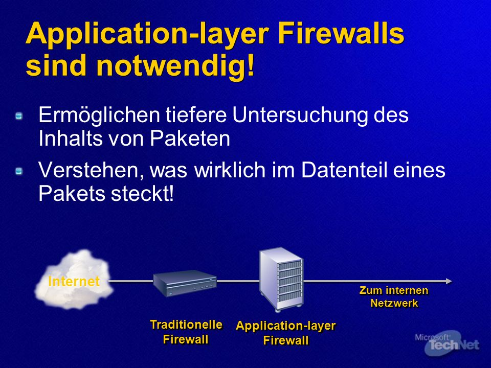 Application-layer Firewalls sind notwendig!