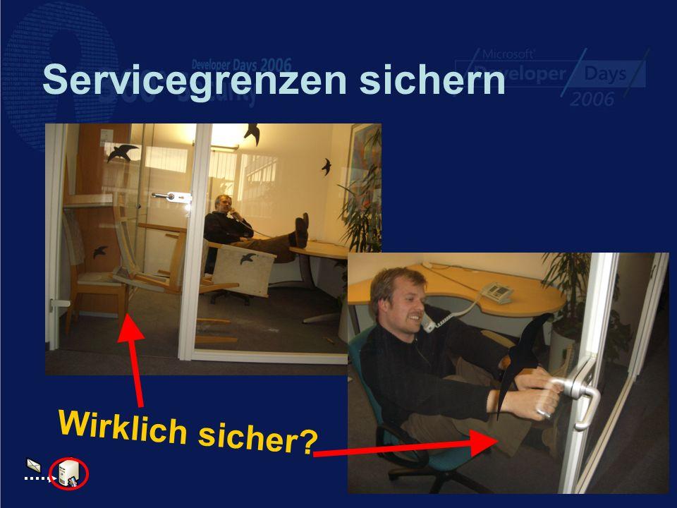 Servicegrenzen sichern