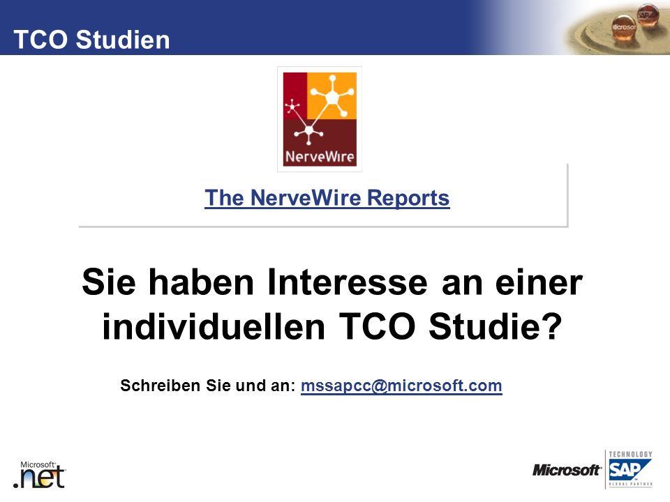 Sie haben Interesse an einer individuellen TCO Studie
