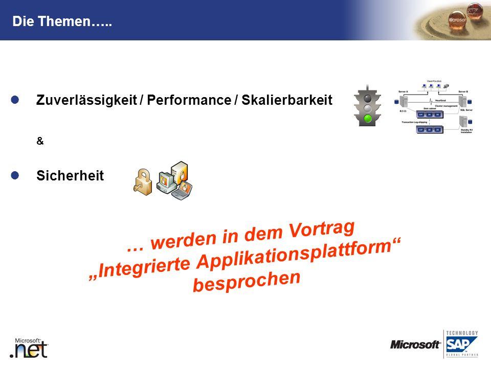"""… werden in dem Vortrag """"Integrierte Applikationsplattform besprochen"""