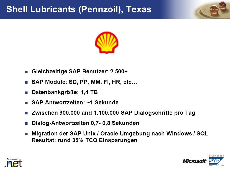 Shell Lubricants (Pennzoil), Texas
