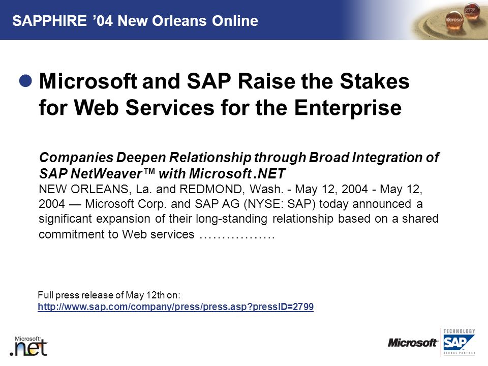 SAPPHIRE '04 New Orleans Online