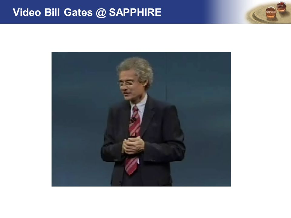 Video Bill Gates @ SAPPHIRE