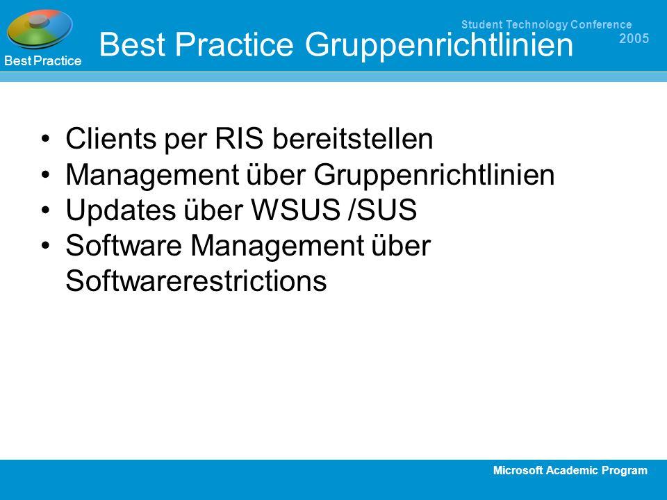 Best Practice Gruppenrichtlinien