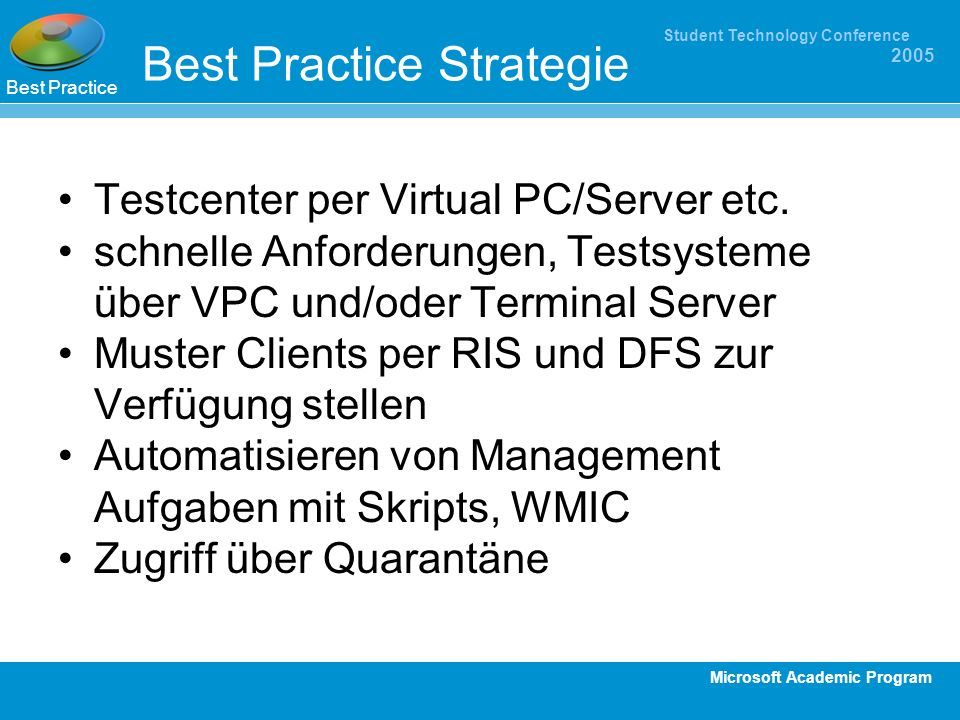 Best Practice Strategie
